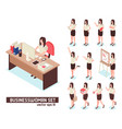 businesswomen isometric set vector image vector image