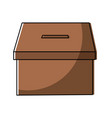cardboard box for voting political electoral vector image