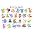 Cartoon animals alphabet
