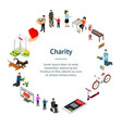 charity donation funding concept banner card vector image vector image