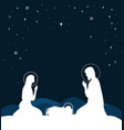 christian christmas scene with birth jesus vector image