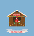 christmas market stalls canopy seller with new vector image vector image
