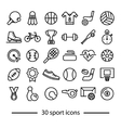 collection of sport line icons vector image