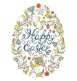 colorful easter egg on white background vector image