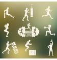 Cross Fitness silhouettes vector image vector image