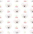 cute koala bear and cherry seamless pattern vector image vector image