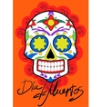 day dead party dea de los muertos card vector image
