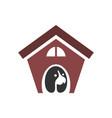 dog house logo concept icon design vector image vector image