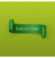 Earth Day realistic scroll festive Ribbon vector image vector image