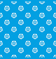 flower pattern seamless blue vector image vector image
