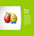 funny easter card template vector image vector image