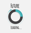 future loading concept vector image vector image