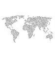 global map pattern of processor icons vector image