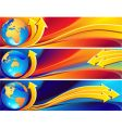 globe banner vector image vector image