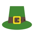 green saint patrick day top hat with buckle vector image