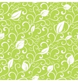 Green Swirl Branches Leaves Seamless vector image vector image