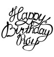 happy birthday roy name lettering vector image vector image