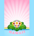 hawaiian document background in polynesian style vector image