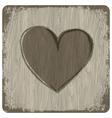 heart on wooden texture vector image vector image