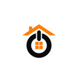 house on logo design template vector image