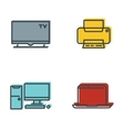 Household appliances gray icons vector image