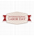 International Labor Day striped Label vector image vector image