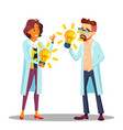 inventor man woman scientist or business vector image