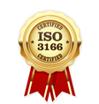 ISO 3166 standard rosette - Country codes vector image vector image