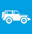jeep icon white vector image