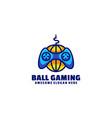 logo ball gaming simple mascot style vector image