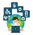 medicine online vector image vector image