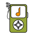 music player mp3 isolated icon vector image vector image