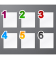 Numbered list design vector image