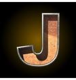 old metal letter j vector image vector image