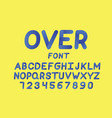 over cursive font alphabet vector image