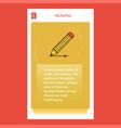 pencil mobile vertical banner design design vector image