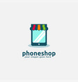phone and front shop logo icon template vector image vector image