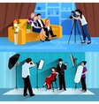 Photographer Banners Set vector image vector image