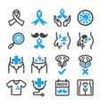 prostate cancer icon vector image vector image