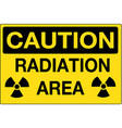 radiation area caution sign eps10 vector image vector image