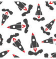 rocket seamless pattern background business flat vector image vector image