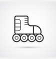 roller skate line black icon vector image vector image