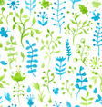 Seamless watercolor grass pattern vector image vector image