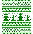 Seamless winter pattern with fir-trees vector image vector image