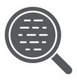 search glyph icon magnifier and find vector image vector image