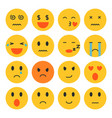 set emoji vector image vector image