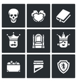 Set of Hamlet tragedy Icons Death Love vector image vector image