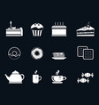 set of icons for tea vector image vector image
