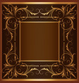 square frame with elegant ornament vector image vector image