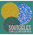 squiggles seamless pattern pack vector image vector image